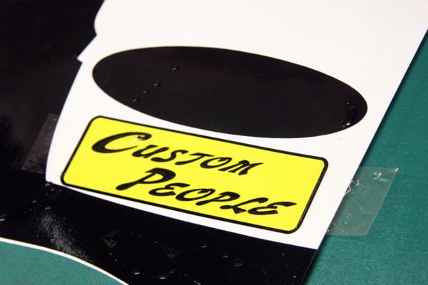 ステッカーの貼り方 透明なシートを貼って転写できるようにする