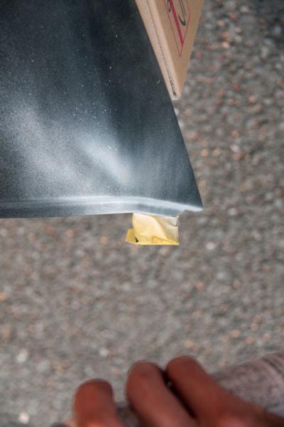 ペイント作業 角面から先に塗装