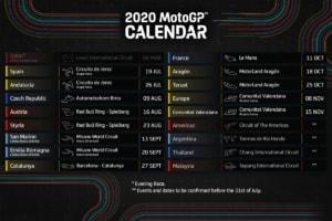 2020 MotoGP 改訂版カレンダー