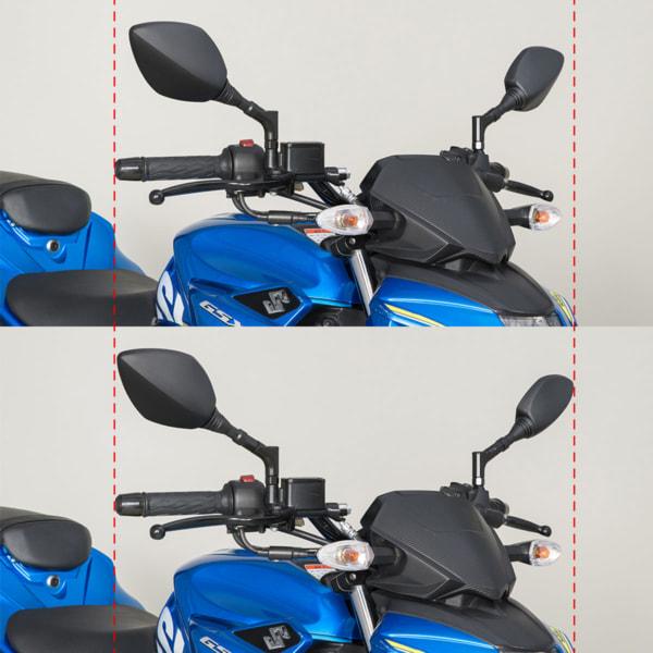 TANAX クロス3プラス 20㎜延長アダプター装着前と後の比較