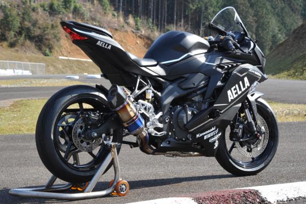 AELLA + R's Gear リアルスペックマフラー Kawasaki Ninja ZX-25R