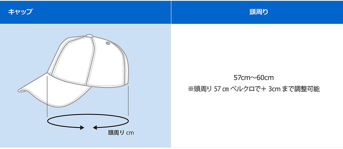 オリジナルキャップサイズ表